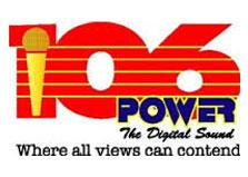 Power 106 FM Independent Radio Co logo