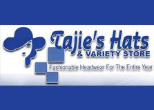Tajie's Hats & Variety Store logo