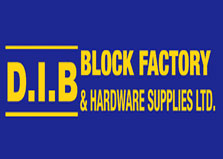 D I B Block Factory & Hdw Supplies logo