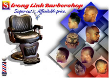 Strong Link Barbershop logo