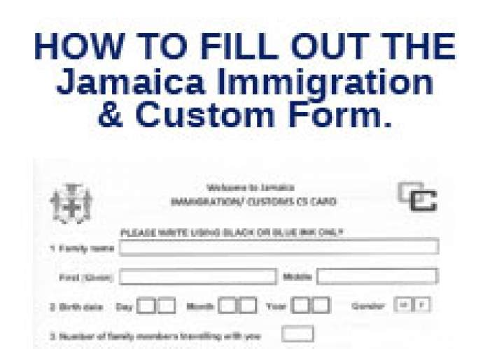 Filling out the Jamaica Immigration & Custom Form. logo
