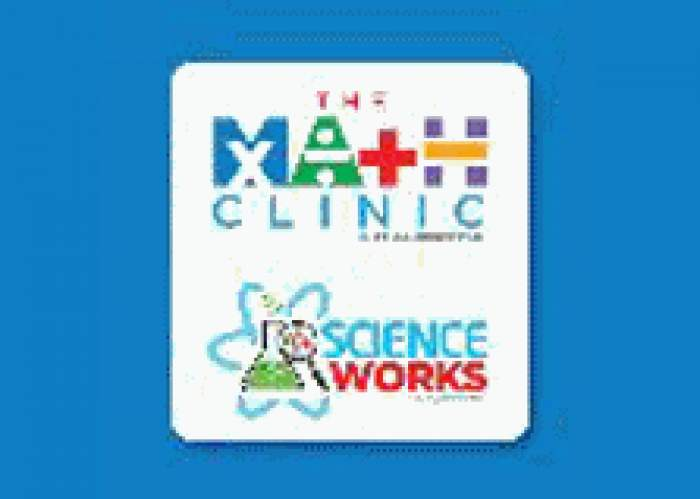 The Math Clinic & Science Works logo