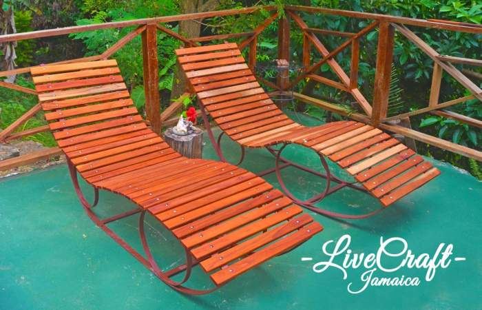 Sun Bed - Steel & Wood JMD75,000