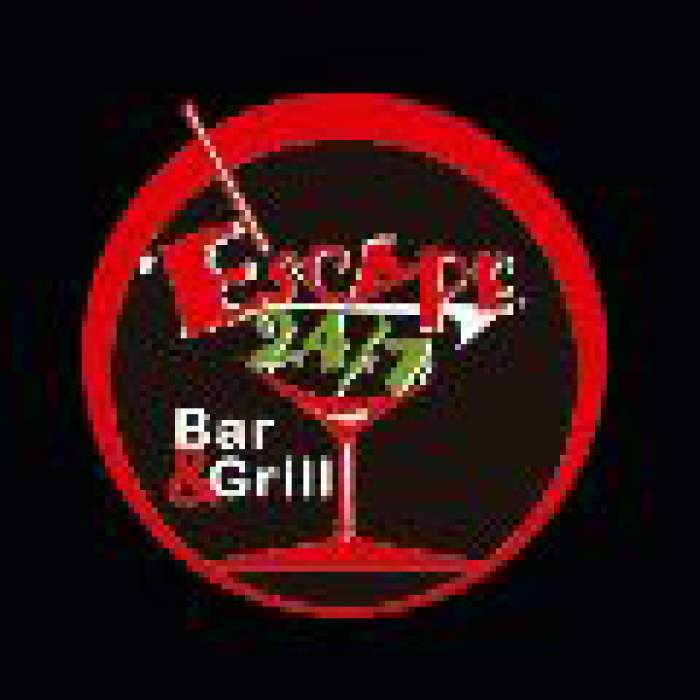 Escape 24/7 Bar and Grill & Nightclub logo