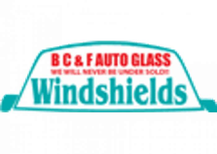 B C & F Auto Glass and Tyre Company logo
