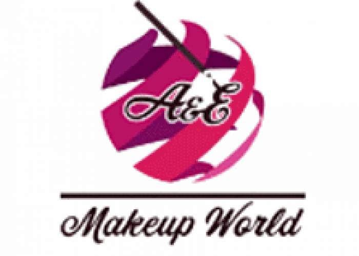 A & E Make-Up World logo
