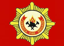 Jamaica Fire Brigade - Dial 110 logo
