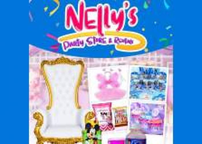 Nelly's Party Store and Rentals logo