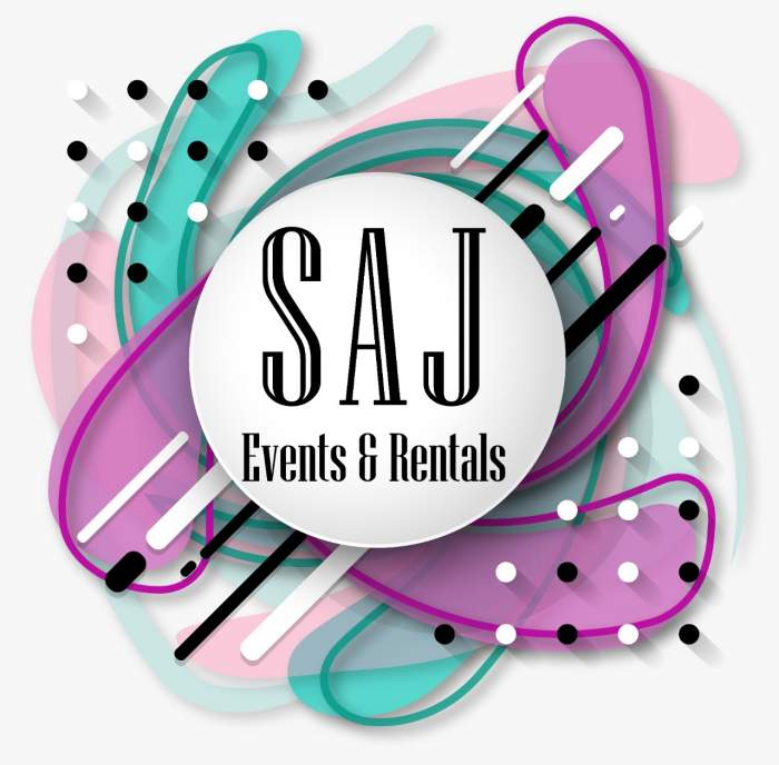 SAJ Events & Rentals logo
