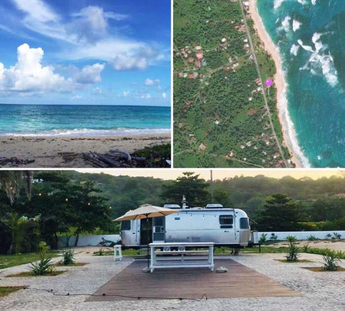 Luxury Beach Living in a one of a kind Airstream (and the only one in Jamaica).