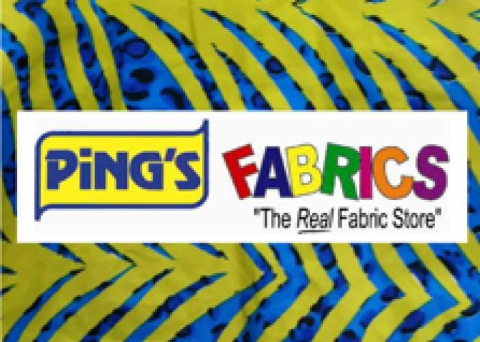 Ping's Fabrics logo