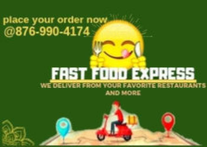 Fast food express delivery service logo