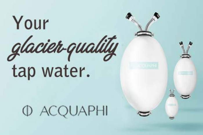AcquaPhi glacier water logo